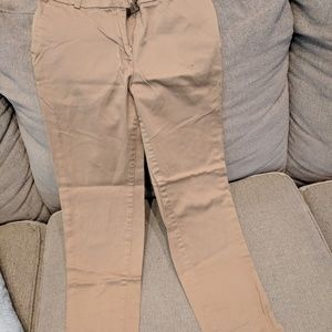 Brown slacks fitted ankle